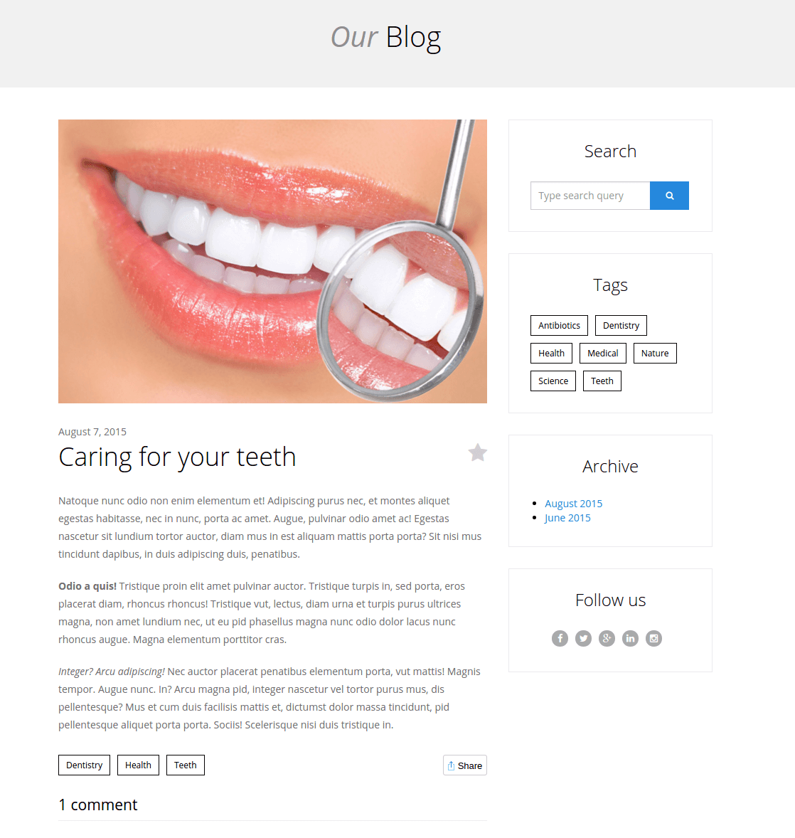 Single Blog - Dentist