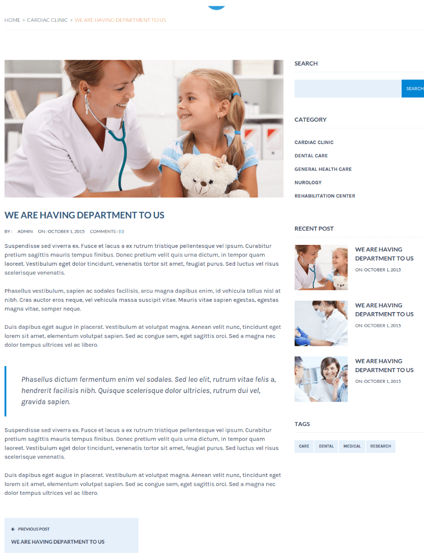 Single Blog Page - MedicalPro