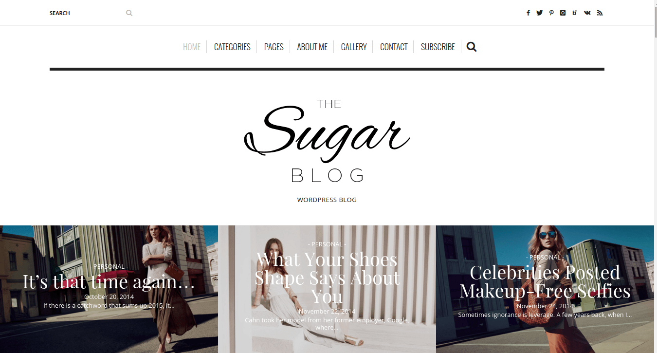 SugarBlog Home Page