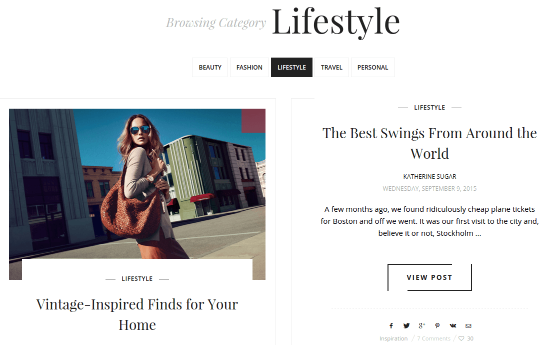 SugarBlog LifeStyle Category Page