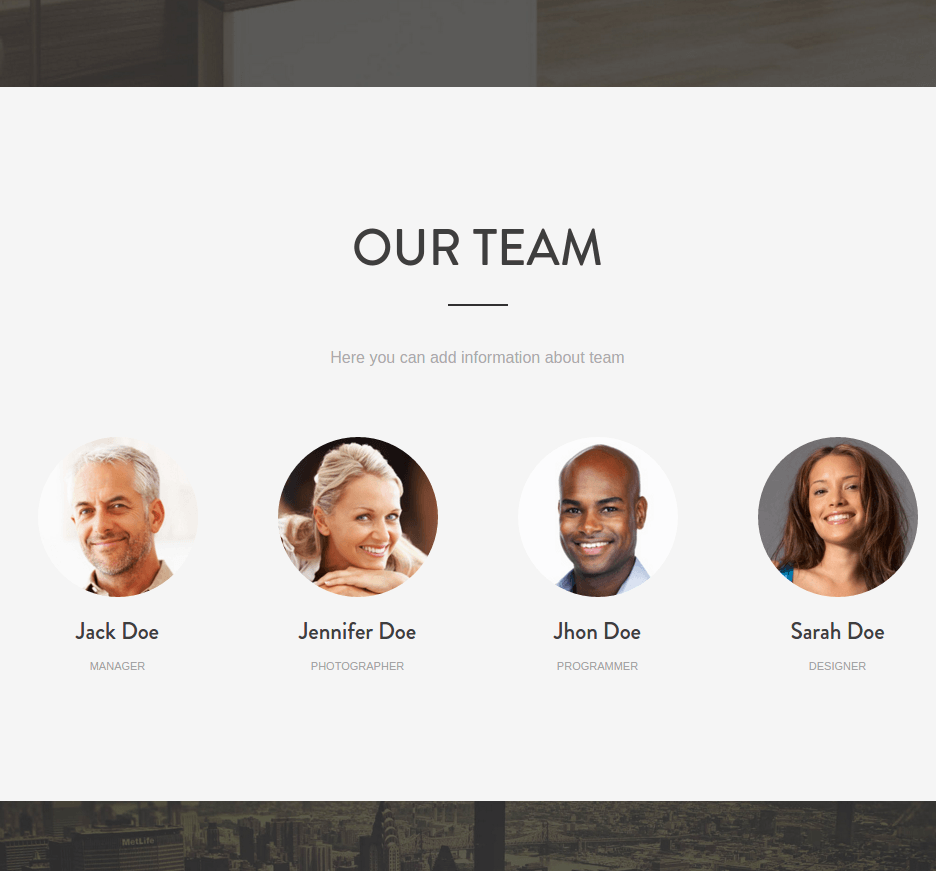 Team page of mountain