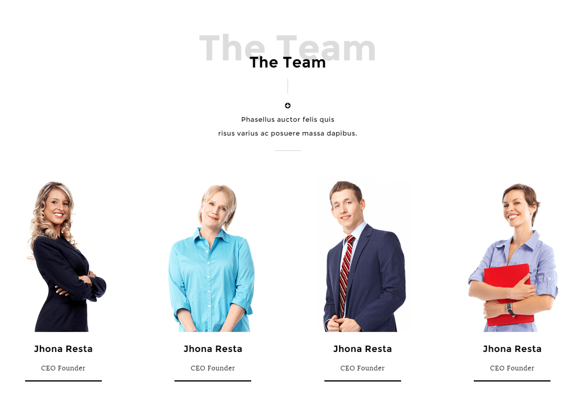 Team's page of Angel theme