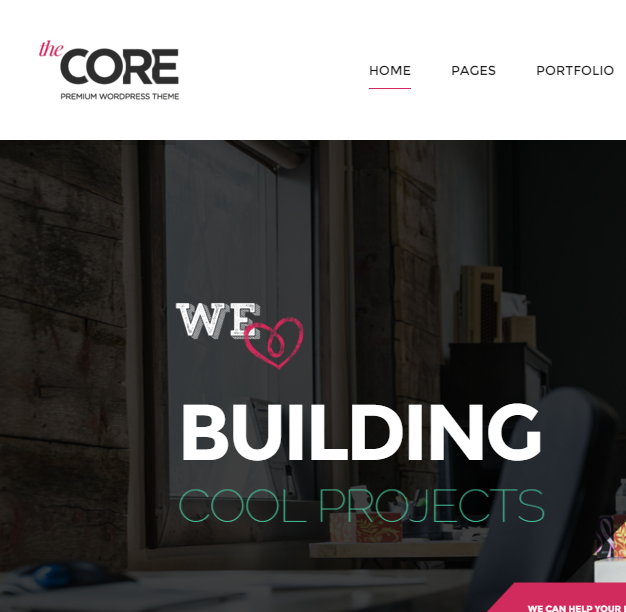 The Core - Multipurpose responsive WordPress theme