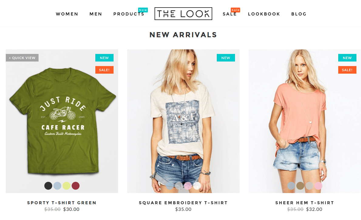 The Look New Arrivals Section