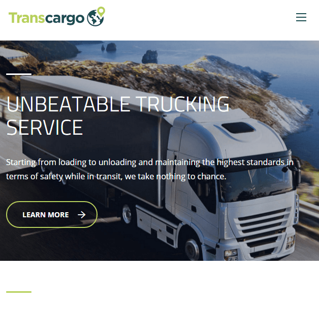 Transcargo - Transportation and logistics WP theme.