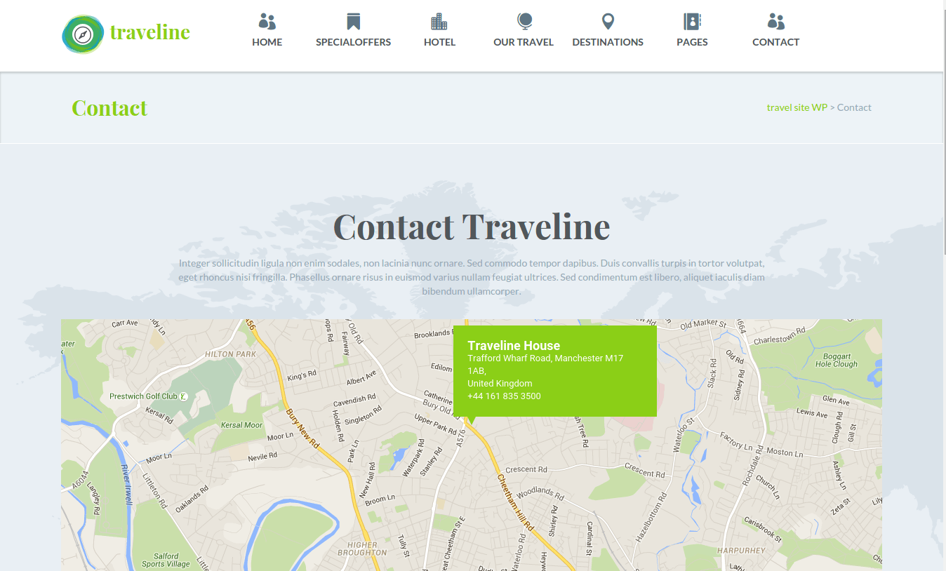 Traveline Contact Us Page