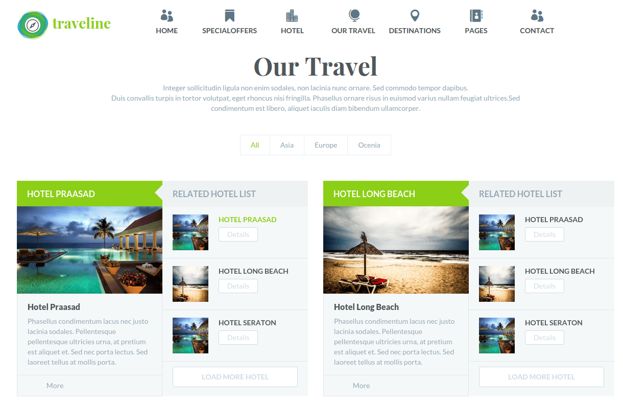 Traveline Our Travel Page