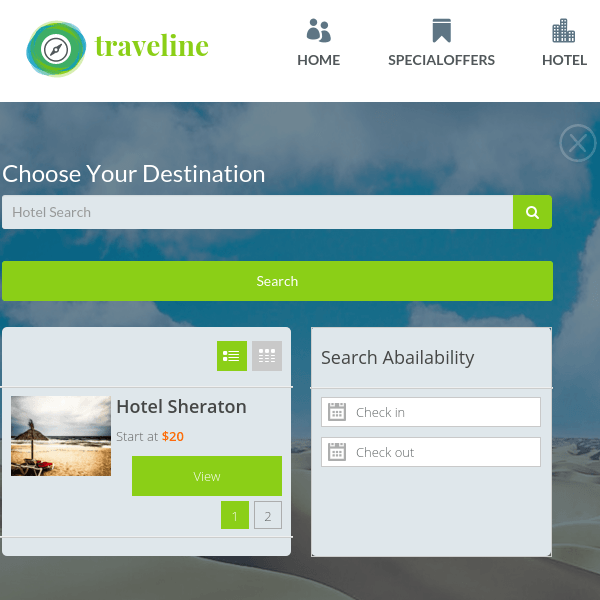 Traveline Travel Hotel Booking WordPress Theme