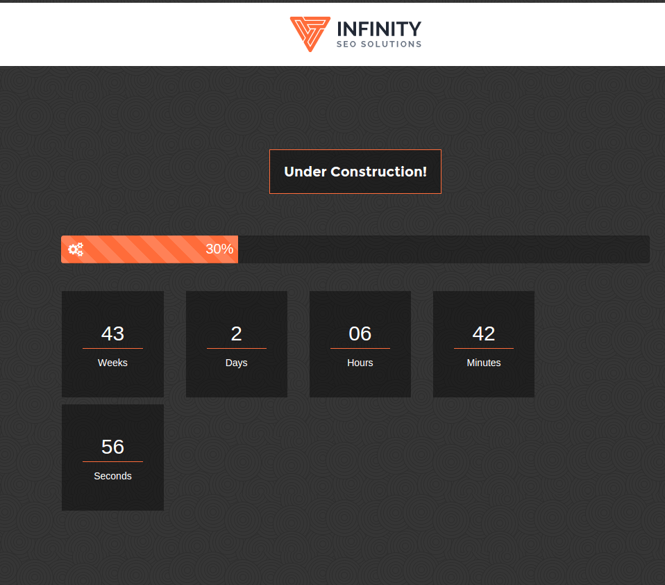 Under Construction Page Page - Infinity