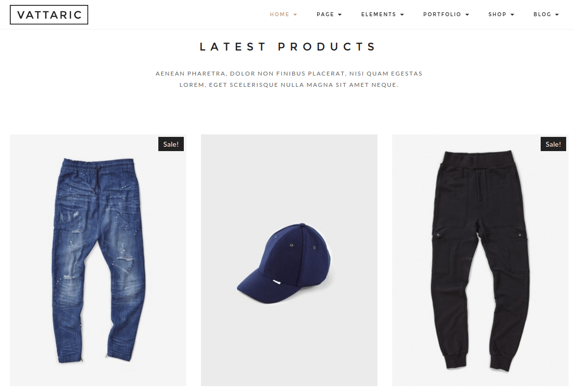 Vattaric Latest Products Section