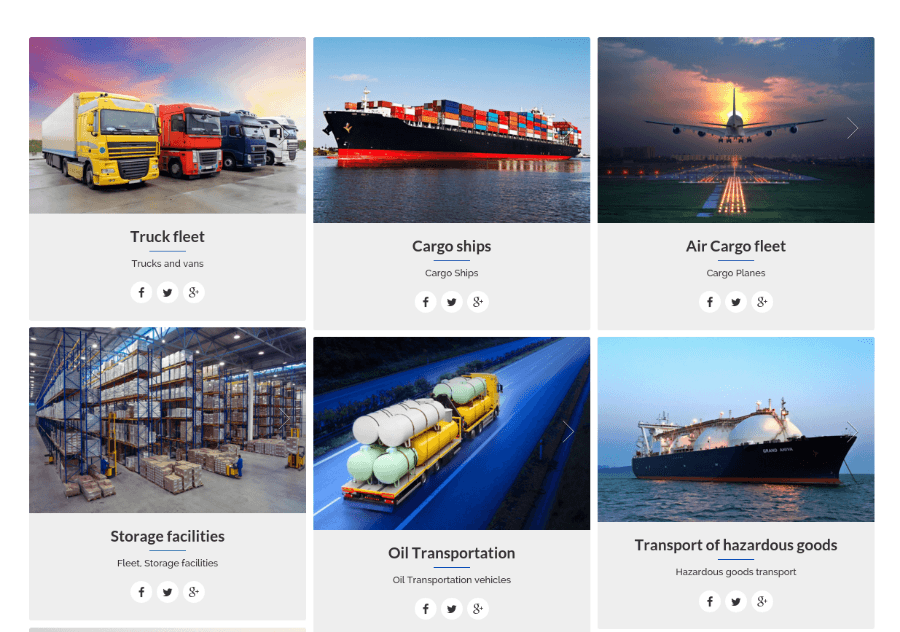 Vehicle Fleet Page - Cargo
