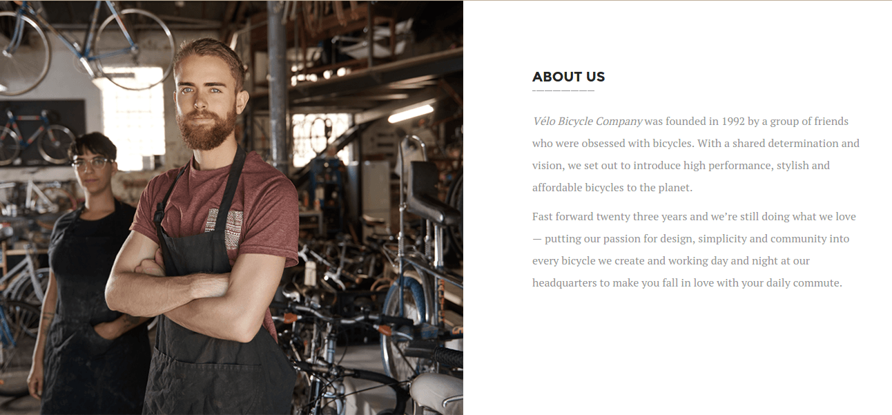 Velo About Us Page
