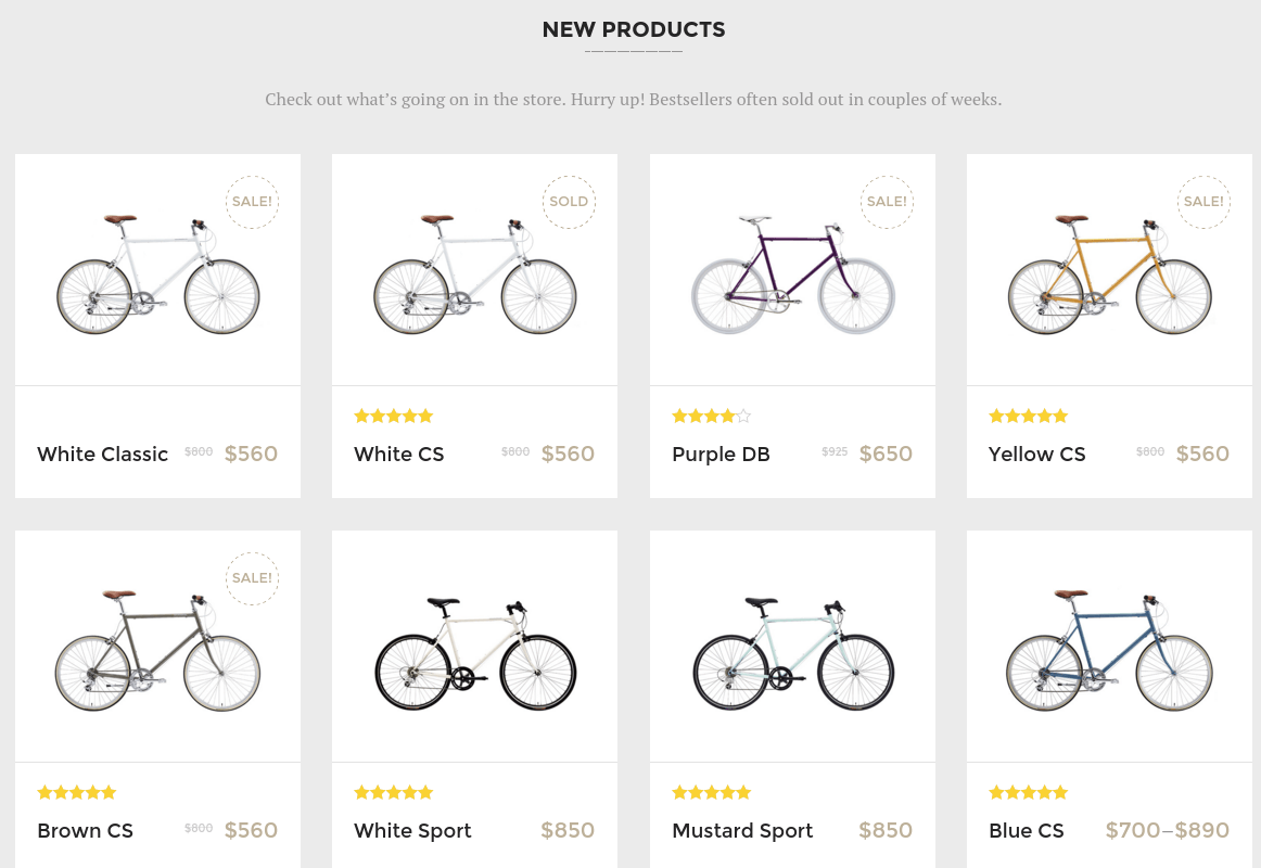 Velo New Products Section