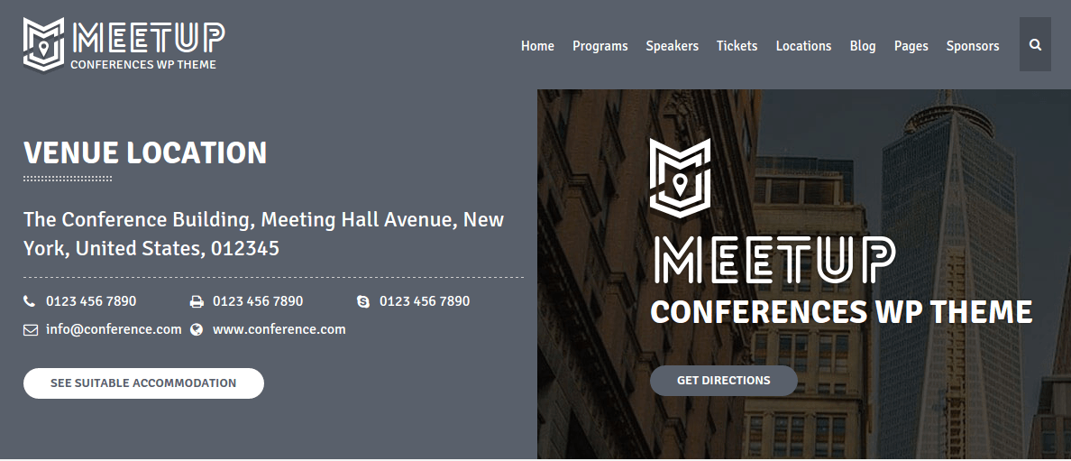 Venue page of the meetup