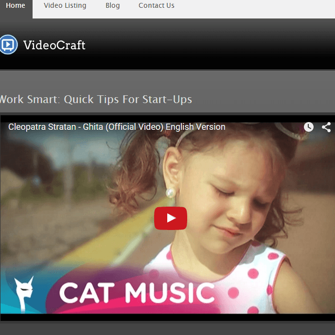 VideoCraft - WordPress Video theme