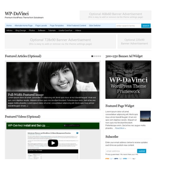 WP Davinci - Fully Responsive WordPress Blog and magazine theme