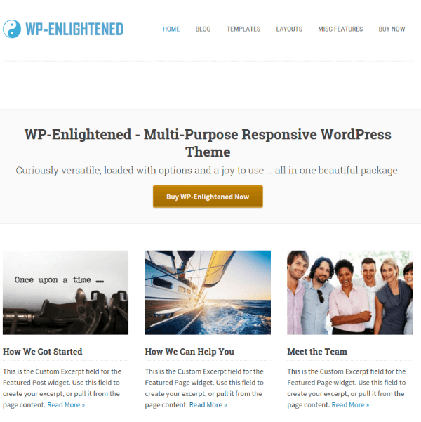 WP-Enlightened Theme