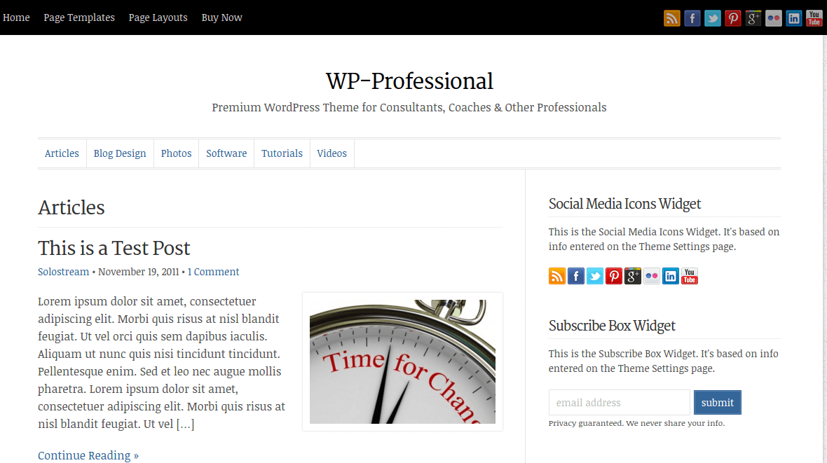 WP-Professional Articles