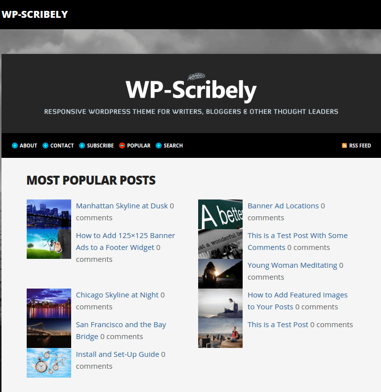 WP-Scribely Popular Page