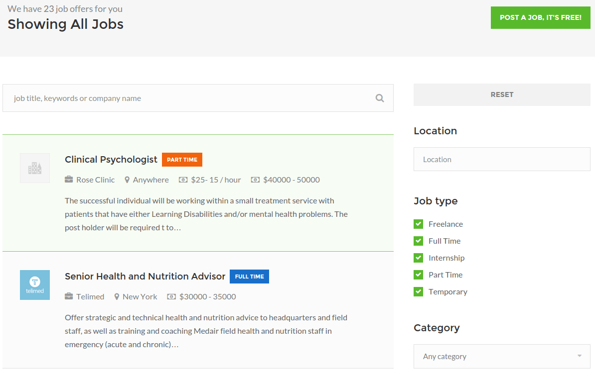 WorkScout All Jobs Page