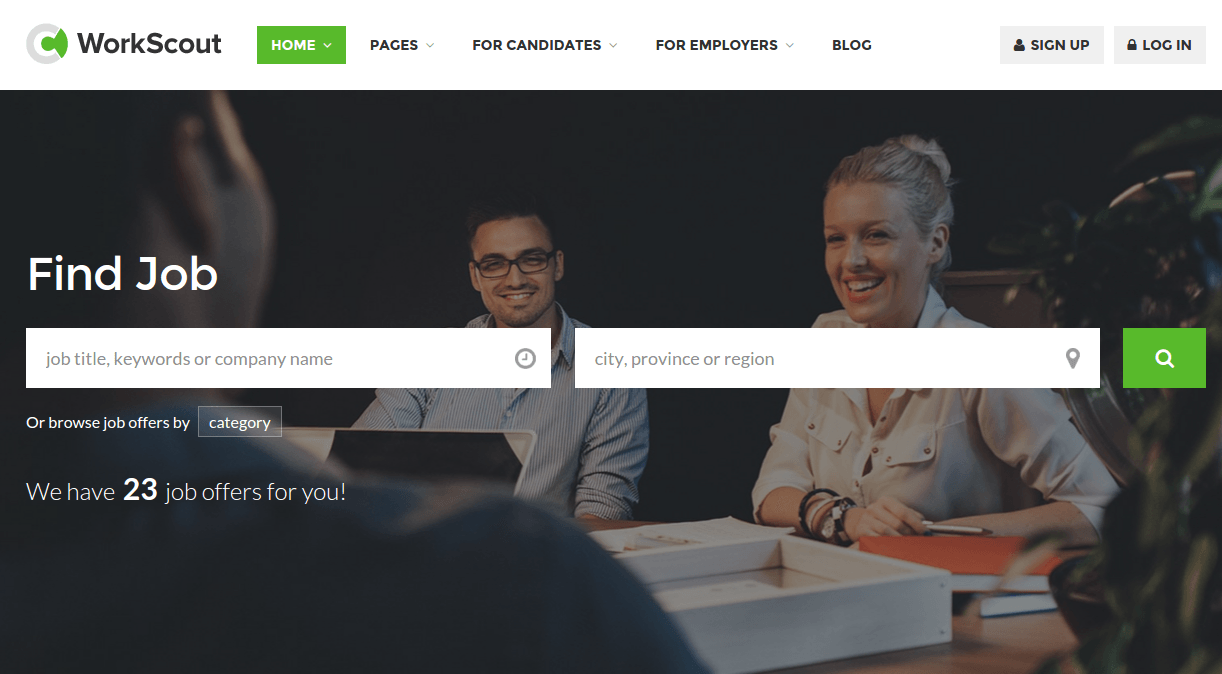 WorkScout Home Page