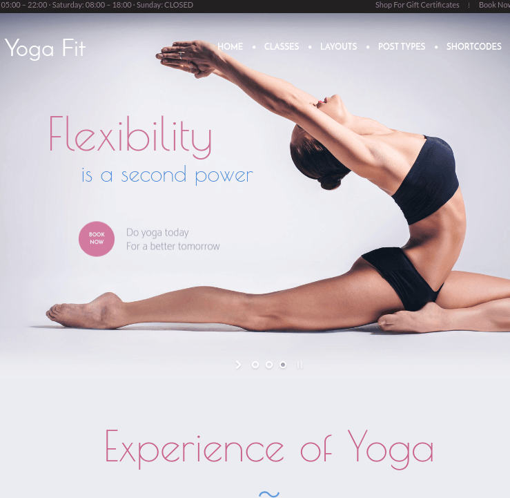 YogaFit - Fitness WordPress theme