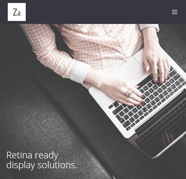 Za - Creative fashion portfolio WordPress theme