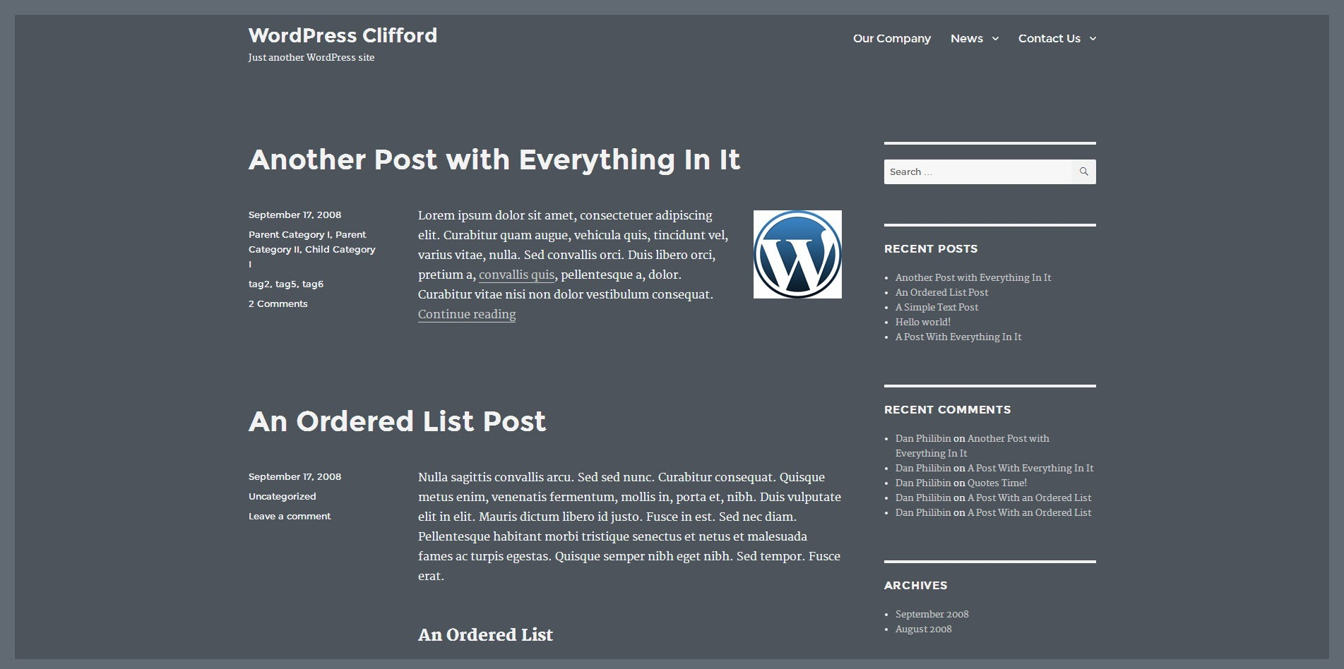 Twenty Sixteen WordPress Theme