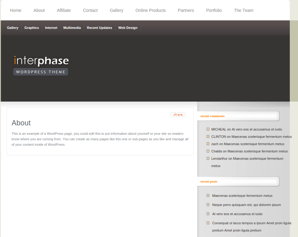 About Page of InterPhase
