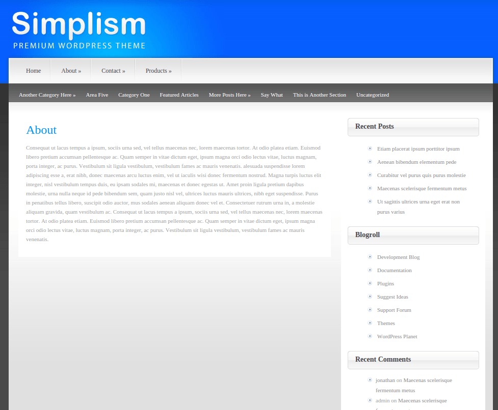 About Page of Simplism