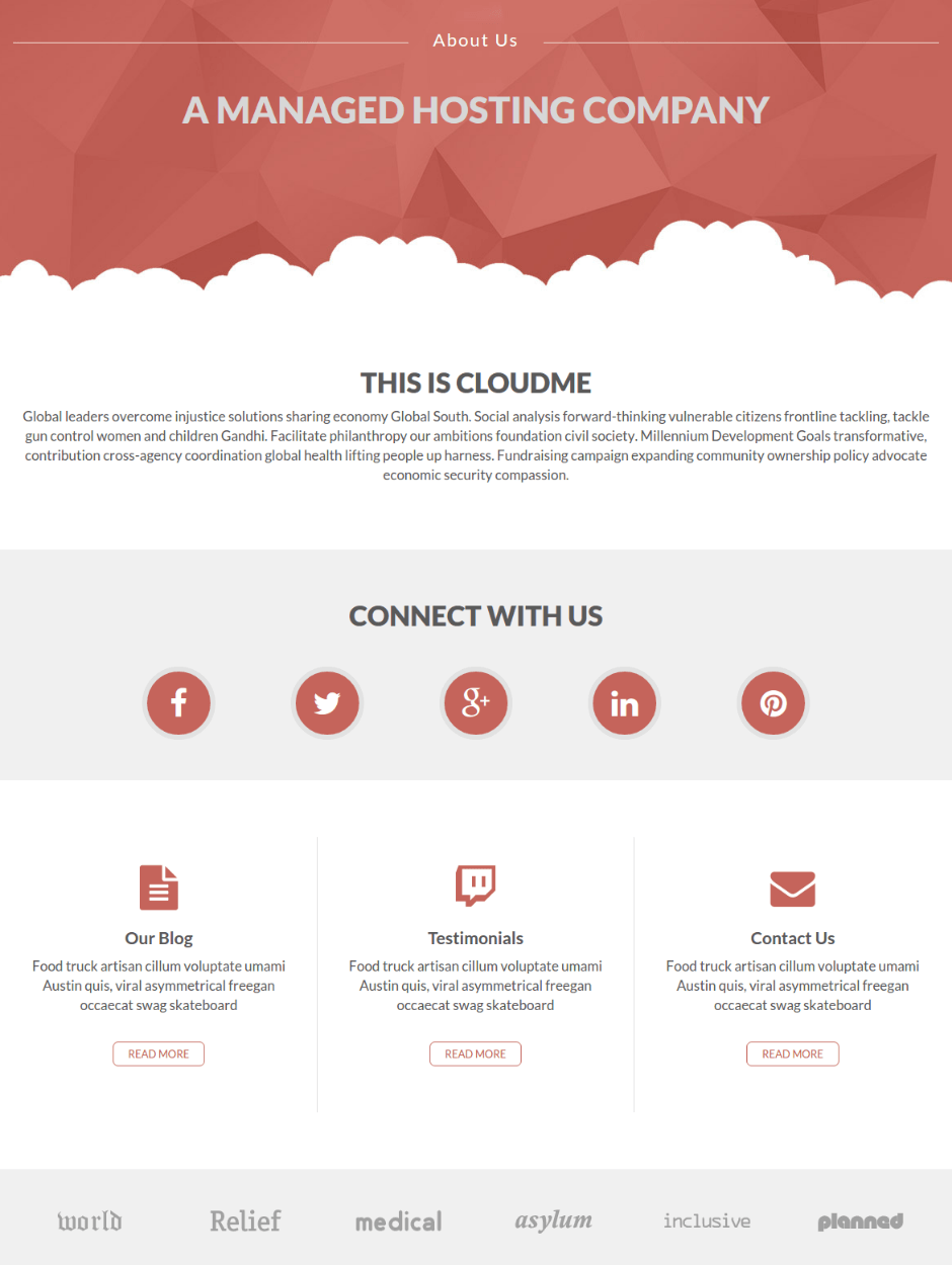 About Us Page of Cloudme Host