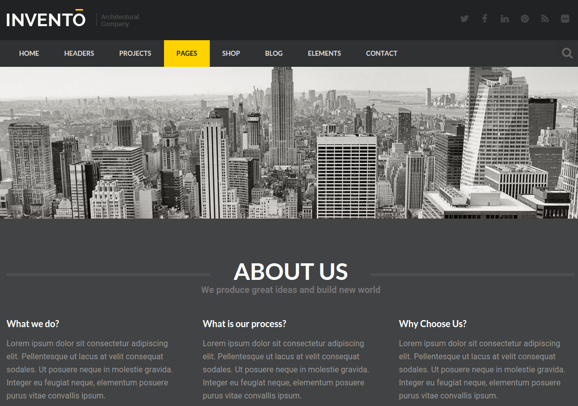 About Us Page of Invento