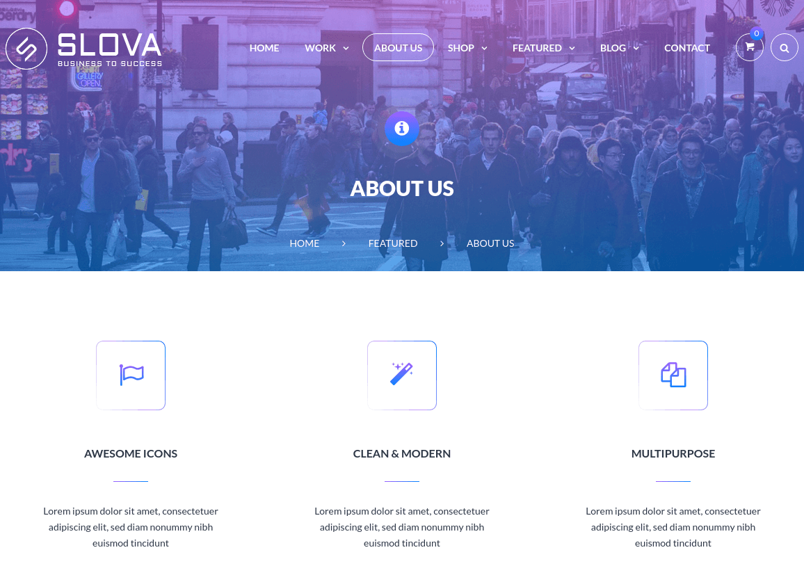 About Us Page of Slova