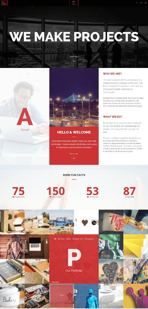 Accent - Homepage