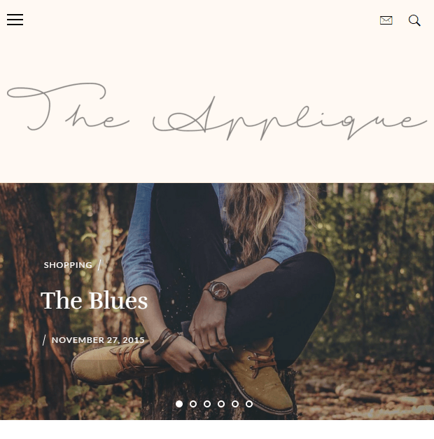 Applique - WordPress theme for fashion blogs.