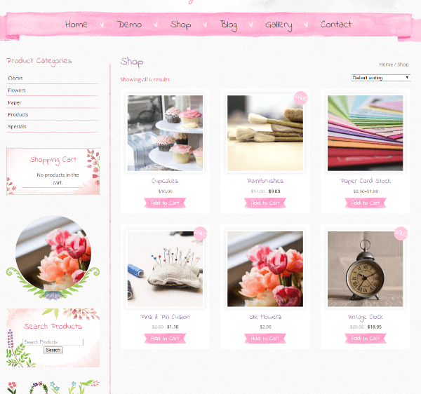 Beautiful Watercolor - shop page
