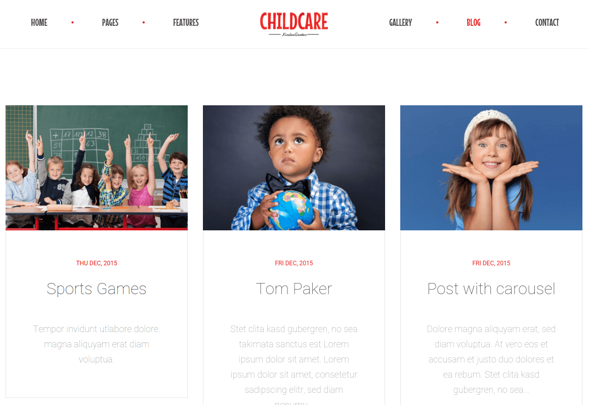 Blog Page of Child Care