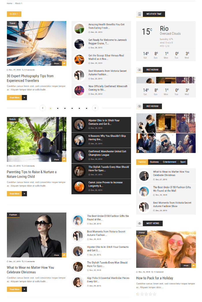 ChillNews - Feature ( Page with blocks)