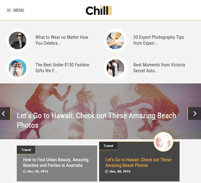 ChillNews - News and Magazine WordPress theme