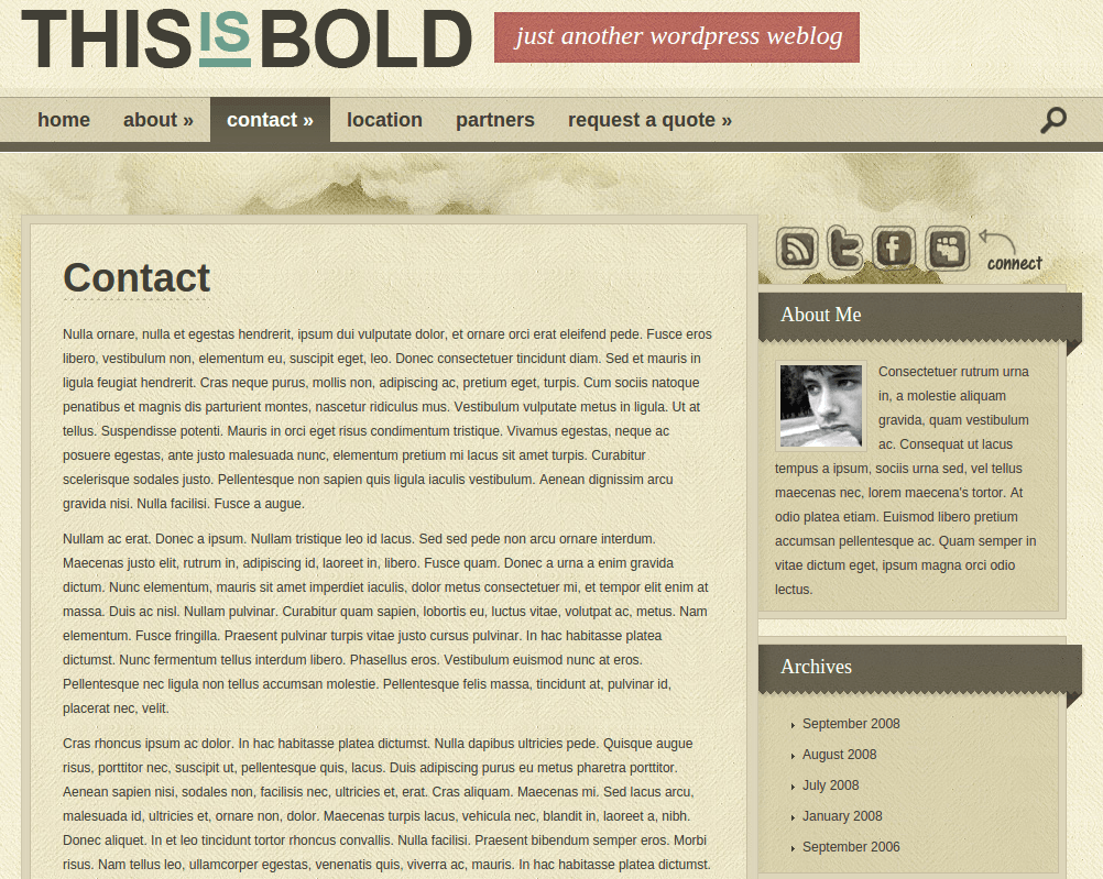 Contact Page of Bold