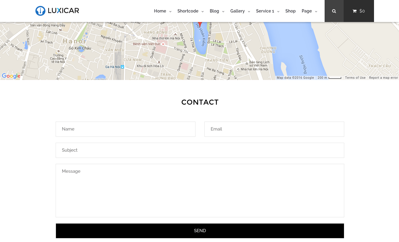 Contact Page of Luxicar