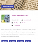 Exodus - Sermons archive on Mobile landscape version