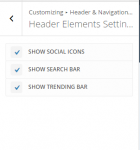 Extra - Customize Header and Navigation settings - Header elements