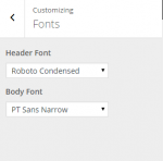 Fable - Live customizer - Fonts