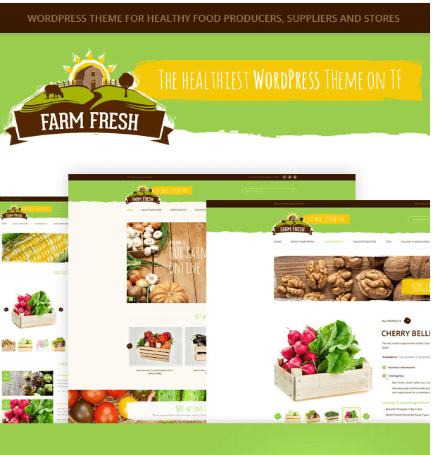 Farm Fresh - organic product WP theme