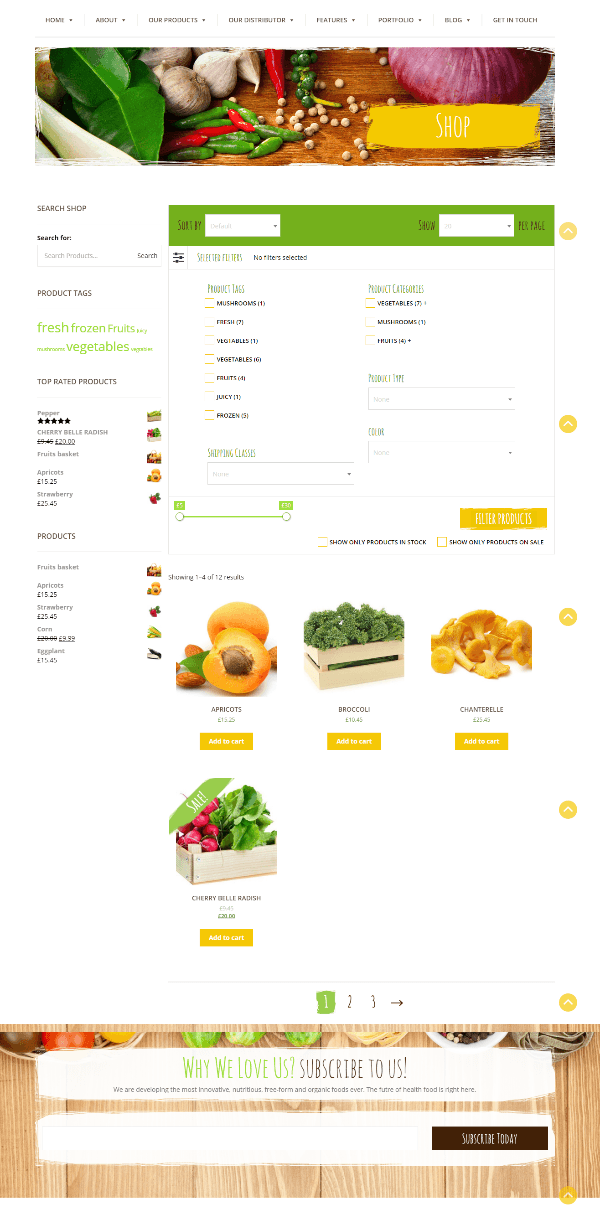 Farm Fresh - our products