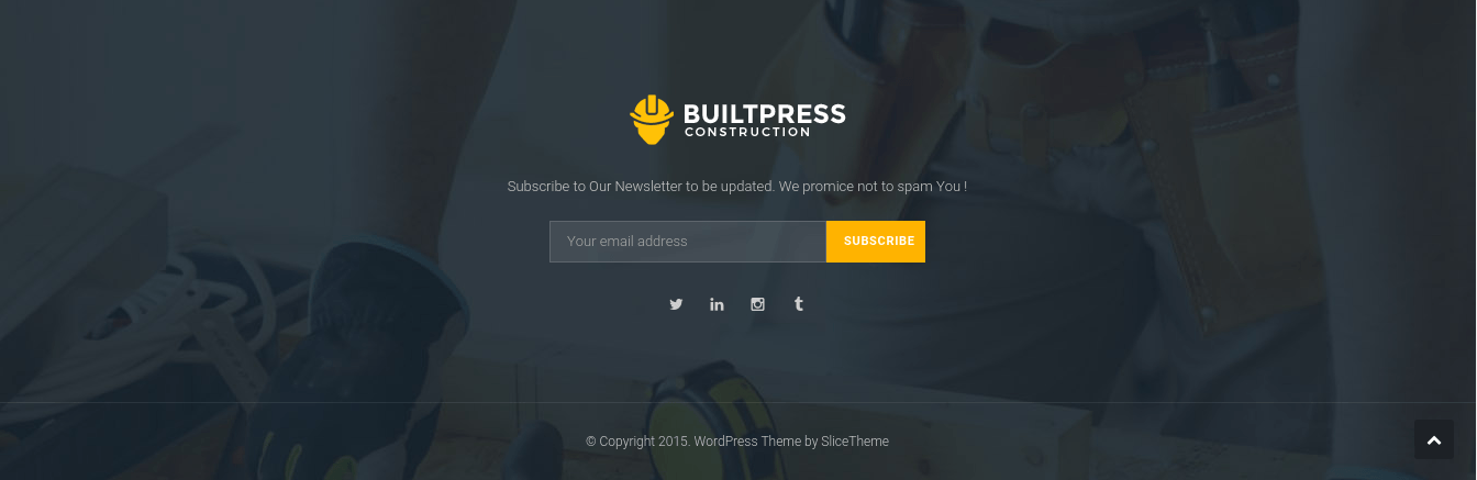 Footer of BuiltPress