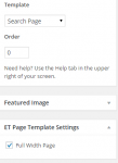 Foxy - Search page template and settings