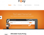 Foxy - Tablet Portrait version showing featured slider