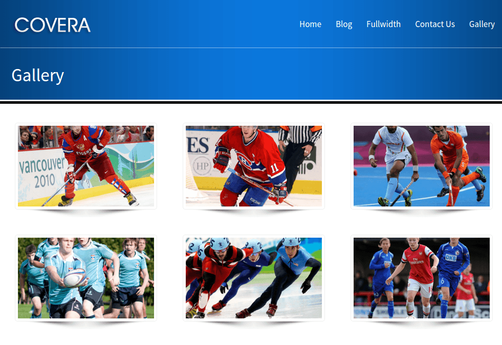 Gallery Page of Covera